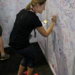 Signing wall at the Expo